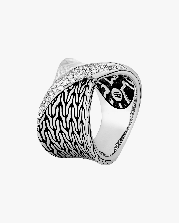 John Hardy Classic Chain Twisted Diamond Ring 1