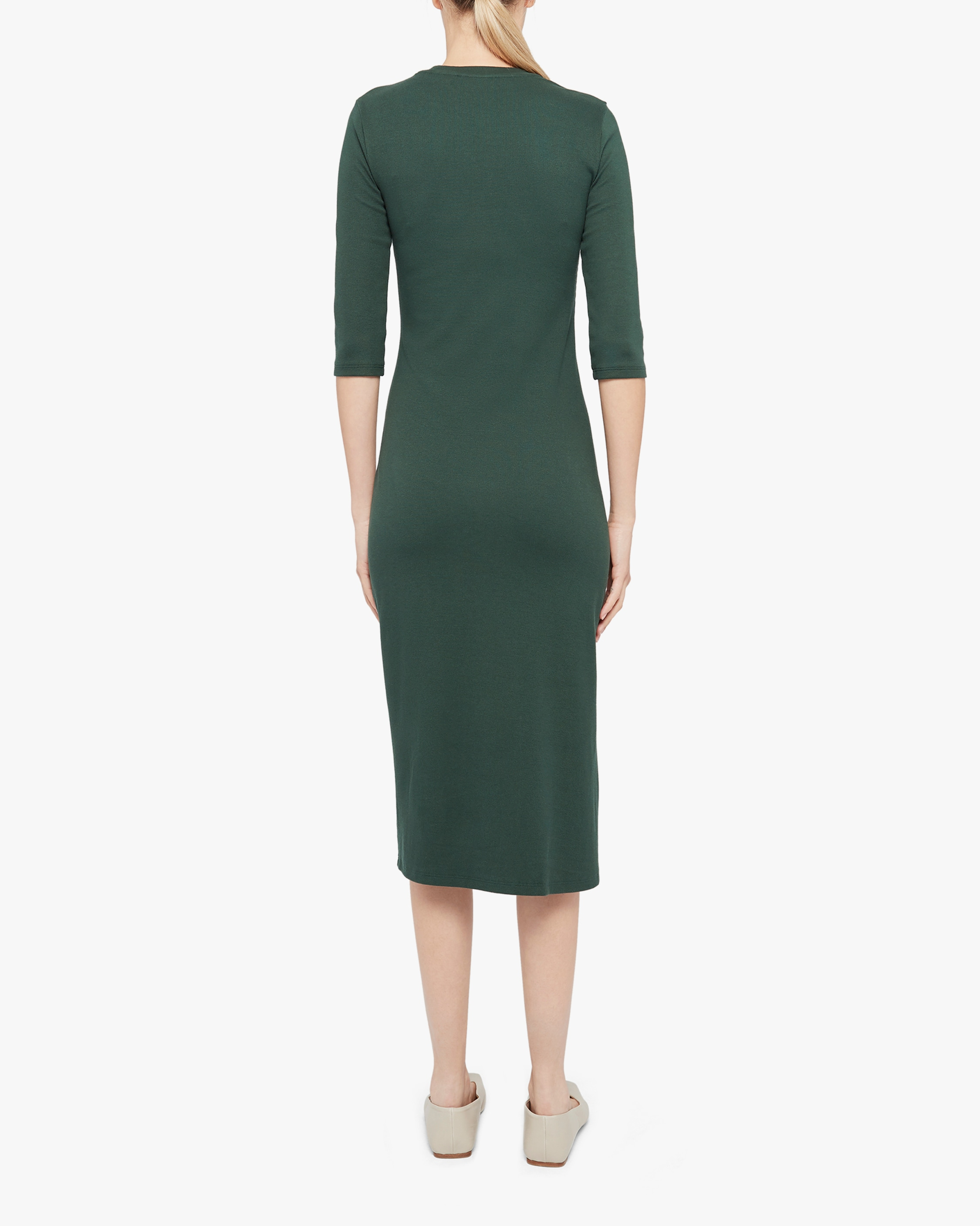 Theory Button-Front Midi Dress 2