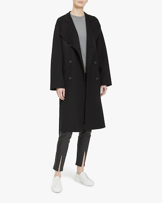 Theory Double-Breasted Belt Coat 1