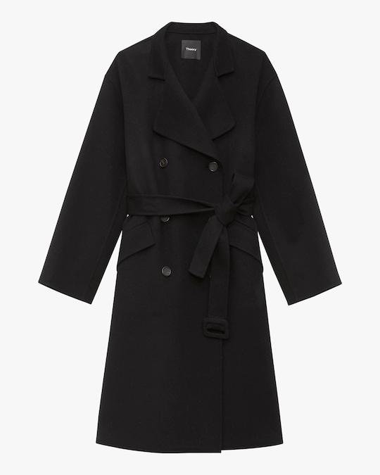 Theory Double-Breasted Belt Coat 0