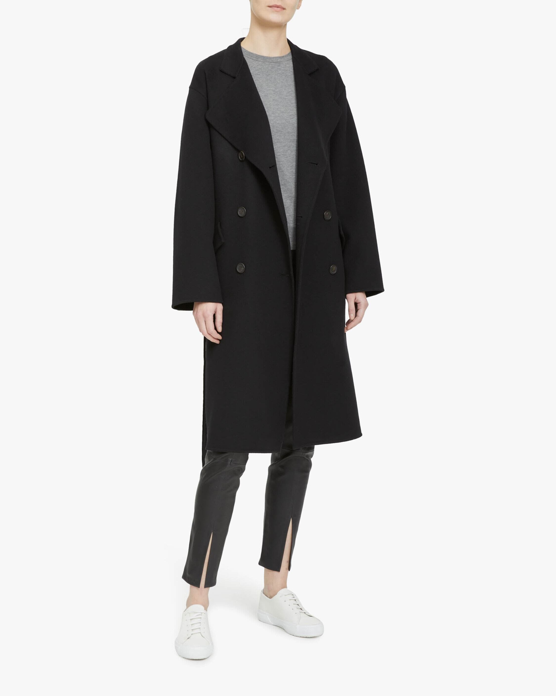 Theory Double-Breasted Belt Coat 2