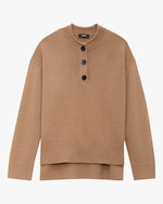 Theory Button-Up Cashmere Sweater 0