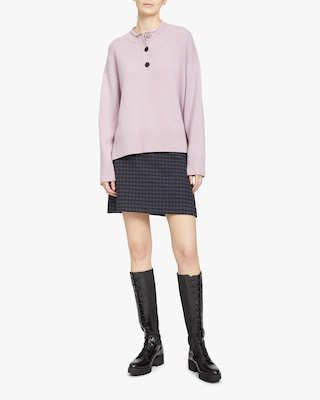 Theory Button-Up Cashmere Sweater 1