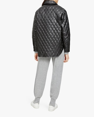 Theory Quilted Faux Leather Jacket 2
