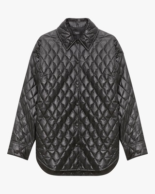 Theory Quilted Faux Leather Jacket 1