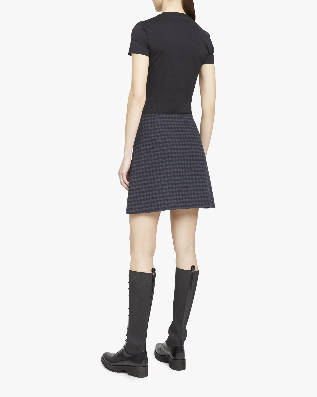 Theory Gignham High-Rise Mini Skirt 2