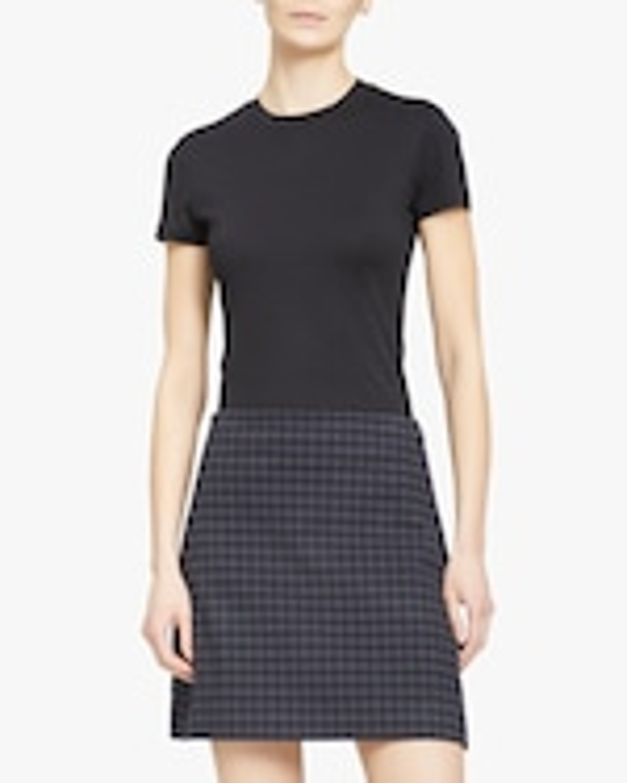 Theory Gignham High-Rise Mini Skirt 0