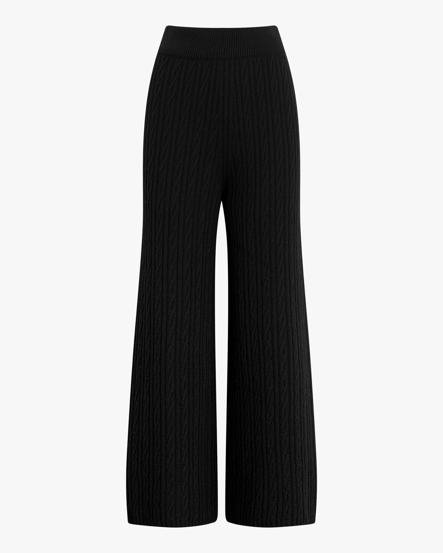 Leset Zoe Cable Cropped Wide-Leg Pants 2