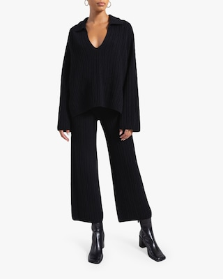 Leset Zoe Cable V-Neck Pullover 2