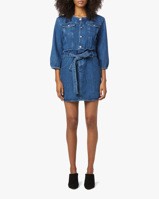 Hudson Paperbag Blouson-Sleeve Dress 1