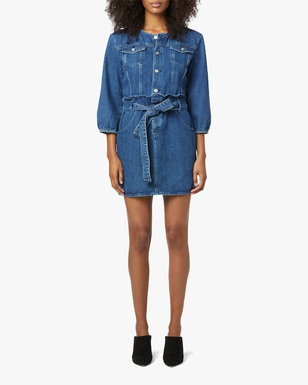 Hudson Paperbag Blouson-Sleeve Dress 0