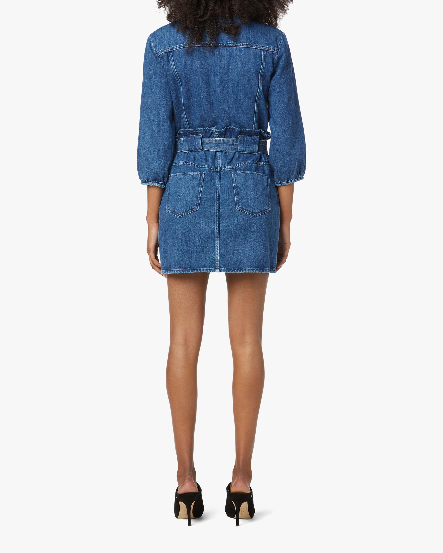 Hudson Paperbag Blouson-Sleeve Dress 2