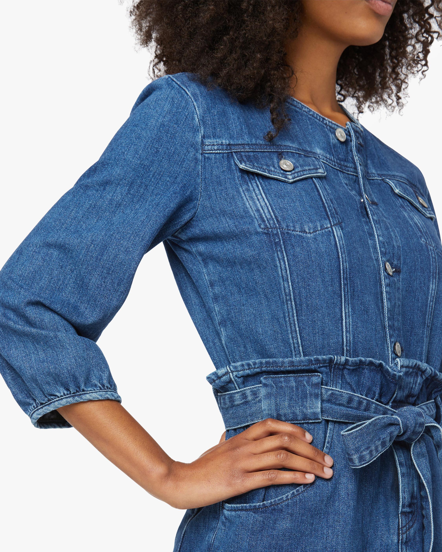 Hudson Paperbag Blouson-Sleeve Dress 3
