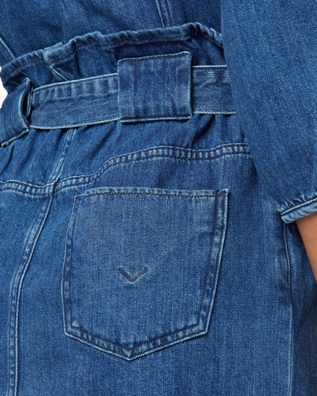Hudson Paperbag Blouson-Sleeve Dress 4