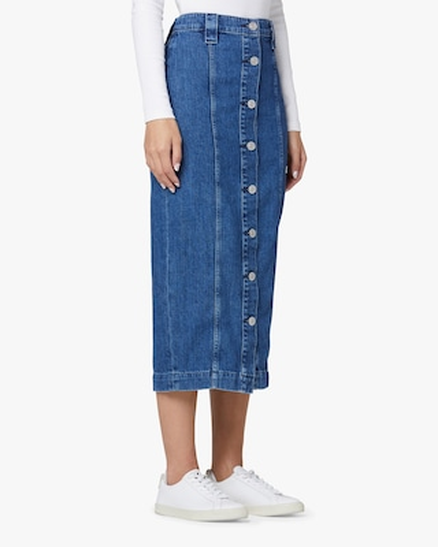 Hudson Button-Front Denim Pencil Skirt 2
