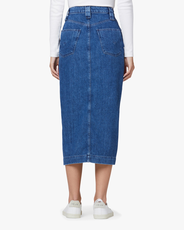 Hudson Button-Front Denim Pencil Skirt 4