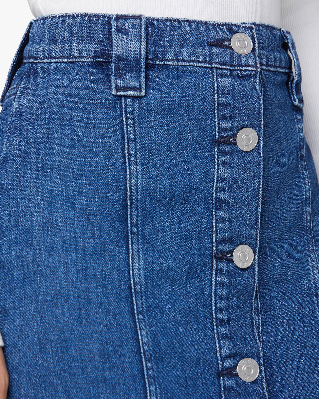 Hudson Button-Front Denim Pencil Skirt 5
