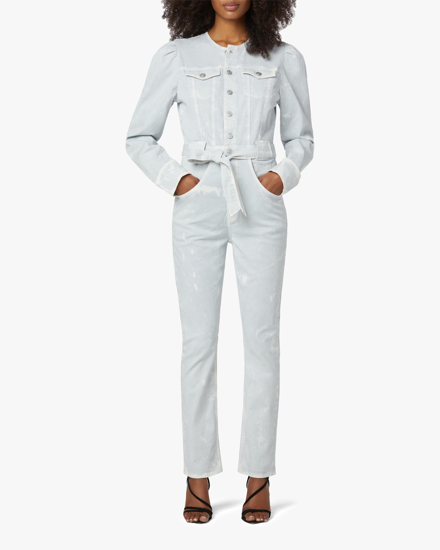 Hudson Puff-Sleeve Denim Jumpsuit 1