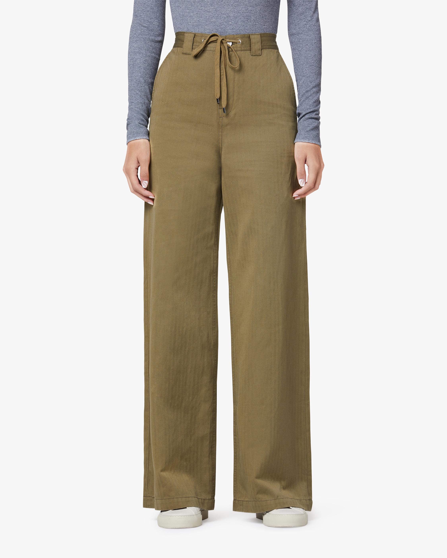 Hudson Drawstring Wide-Leg Trouser 1