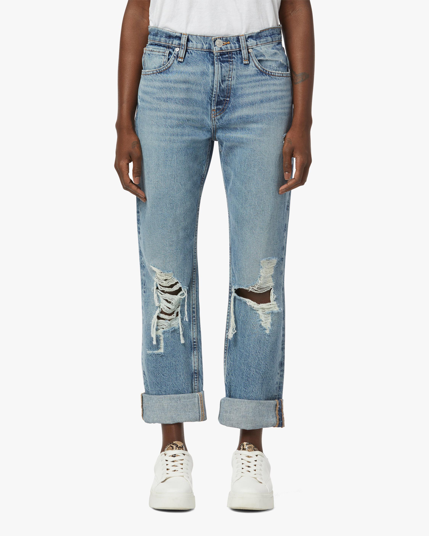 Hudson Thalia Loose-Fit Cuffed Jeans 1