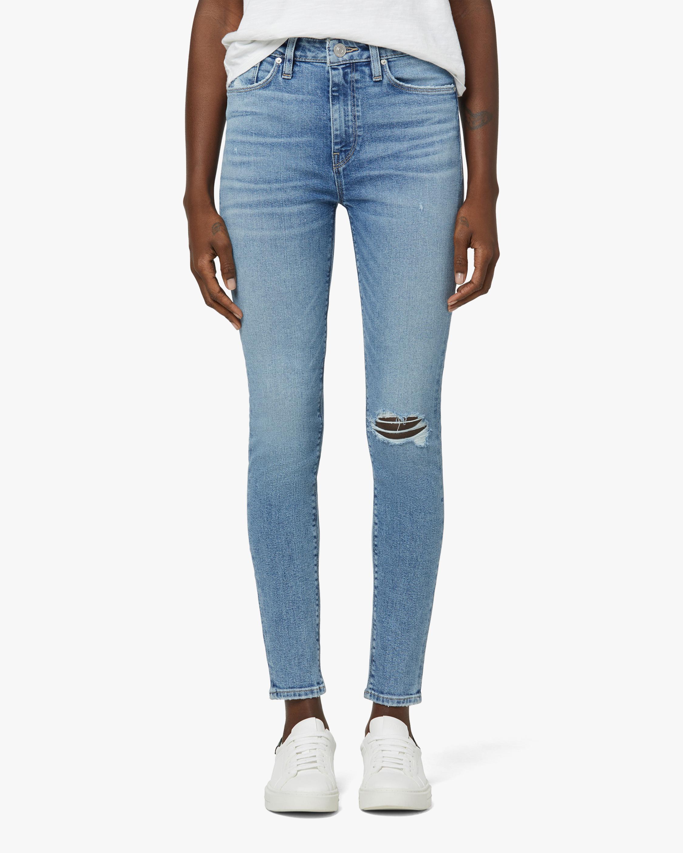 Hudson Barbara High-Rise Super-Skinny Crop Jeans 1