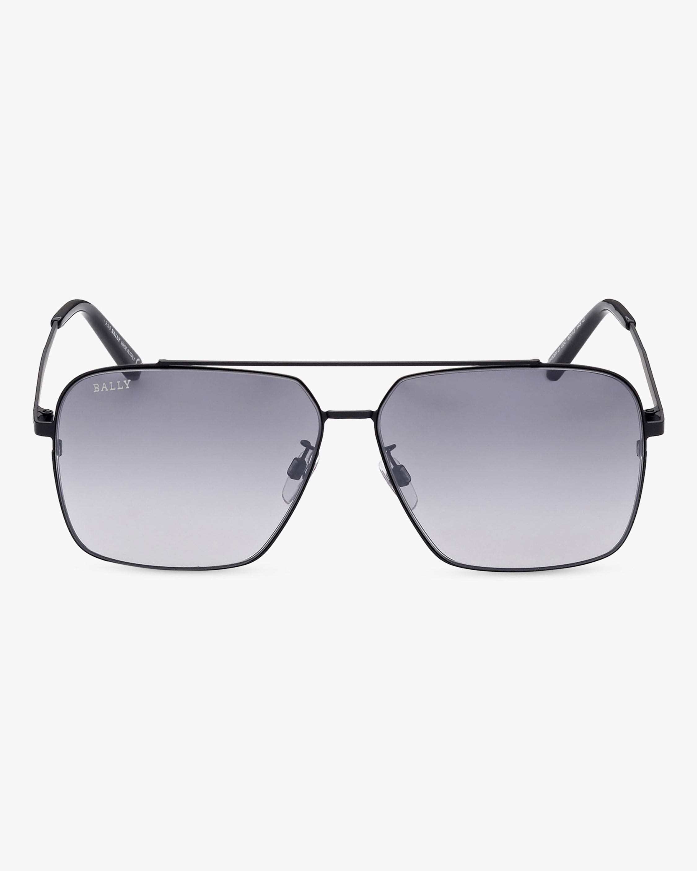 Bally Matte Black Navigator Sunglasses 1
