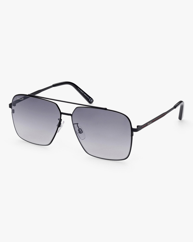 Bally Matte Black Navigator Sunglasses 2