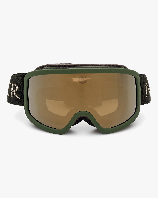 Moncler Matte Dark Green Shield Goggles 1