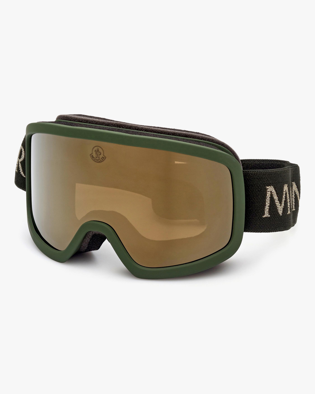 Moncler Matte Dark Green Shield Goggles 2