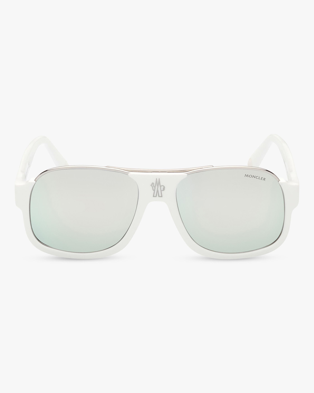 Moncler White Square Sunglasses 1