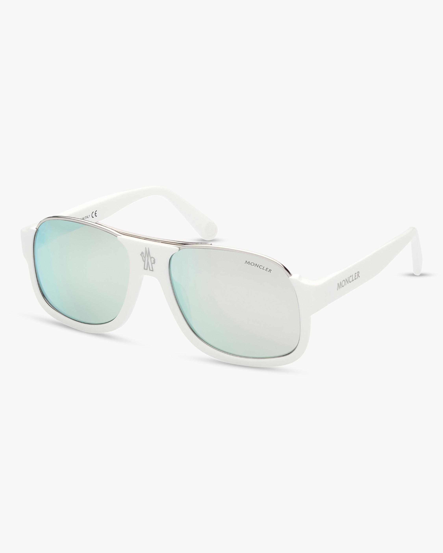 Moncler White Square Sunglasses 2