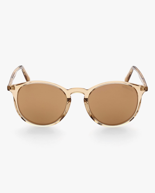 Moncler Beige Round Sunglasses 1