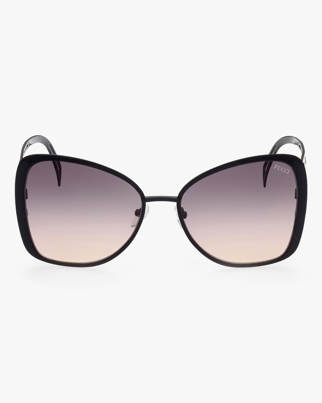 Emilio Pucci Black Butterfly Metal Sunglasses 1