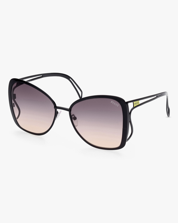 Emilio Pucci Black Butterfly Metal Sunglasses 2
