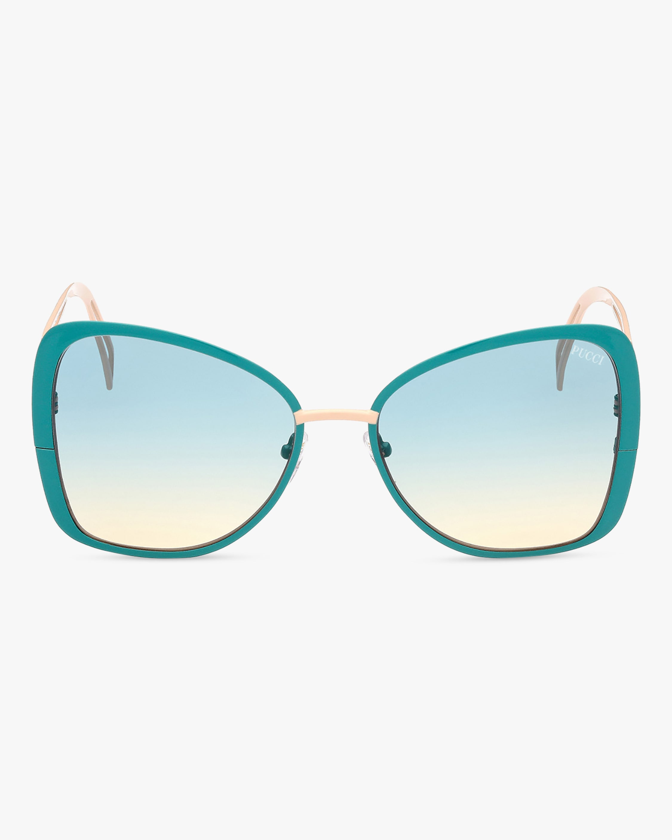 Emilio Pucci Turquoise Butterfly Metal Sunglasses 1