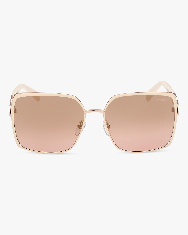 Emilio Pucci White Oversized Square Sunglasses 1