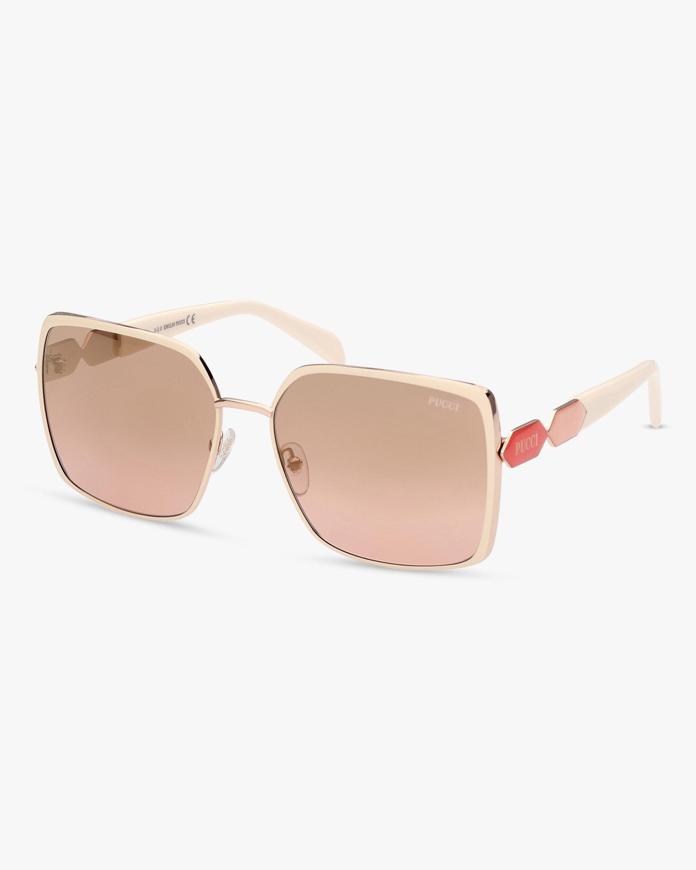 Emilio Pucci White Oversized Square Sunglasses 2