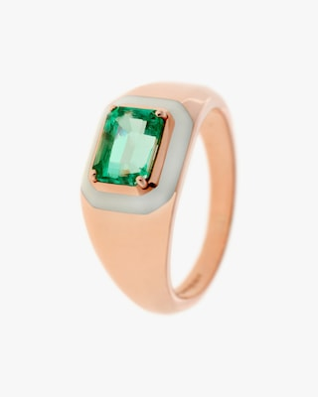 Selim Mouzannar Emerald Graduated-Band Ring 1