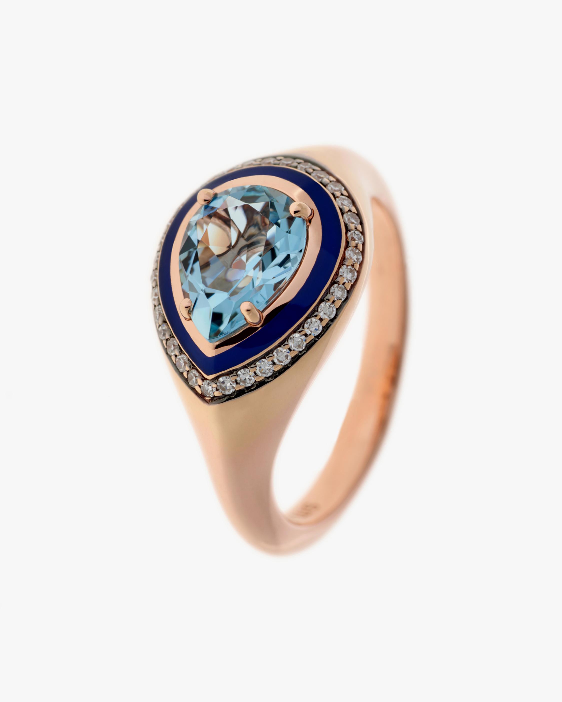 Selim Mouzannar Diamond & Aquamarine Ring 1