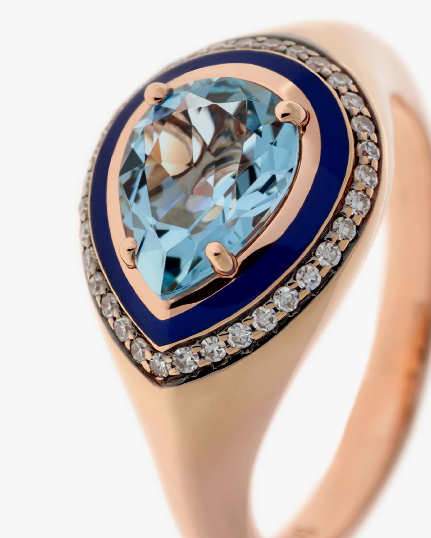 Selim Mouzannar Diamond & Aquamarine Ring 2
