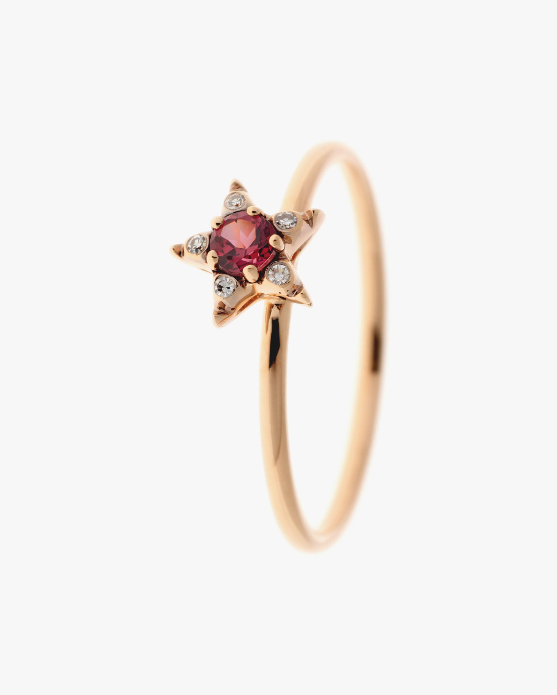 Selim Mouzannar Diamond & Rhodolite Star Ring 0