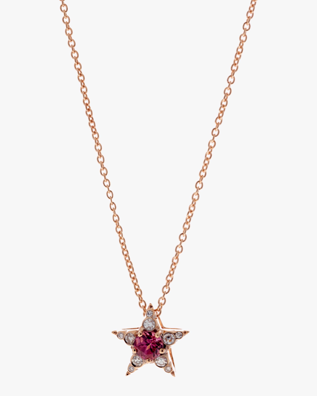 Selim Mouzannar Diamond & Rhodolite Star Pendant Necklace 0