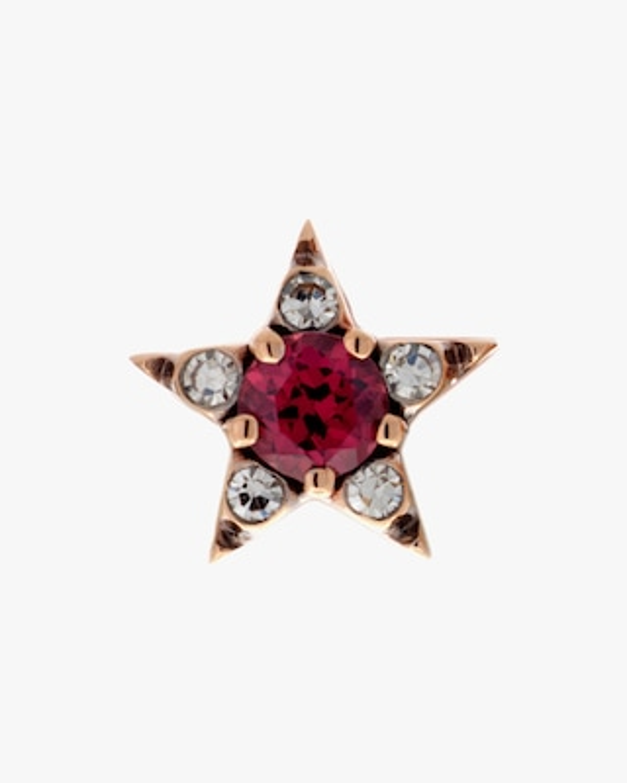 Selim Mouzannar Diamond & Rhodolite Star Single Stud Earring 2