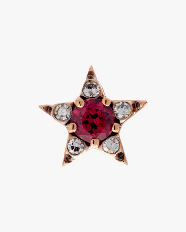 Selim Mouzannar Diamond & Rhodolite Star Single Stud Earring 0