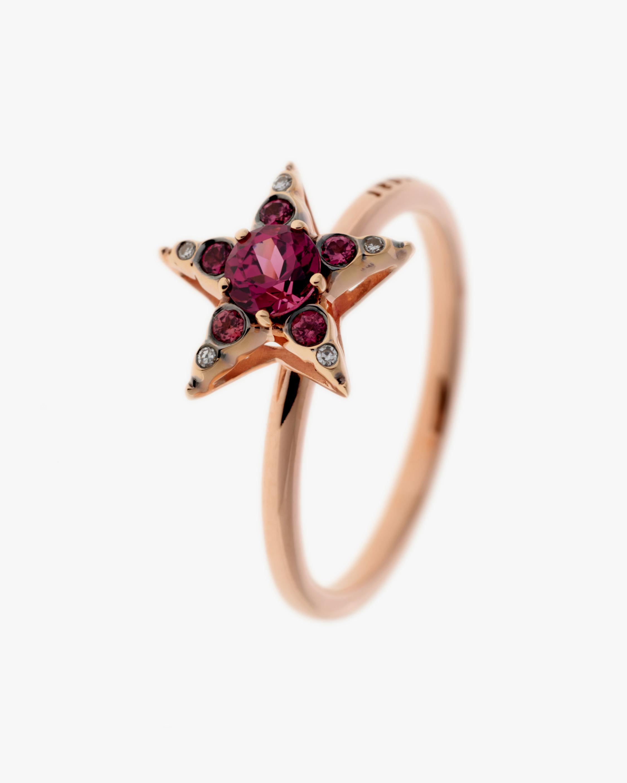 Selim Mouzannar Diamond & Rhodolite Star Ring 1
