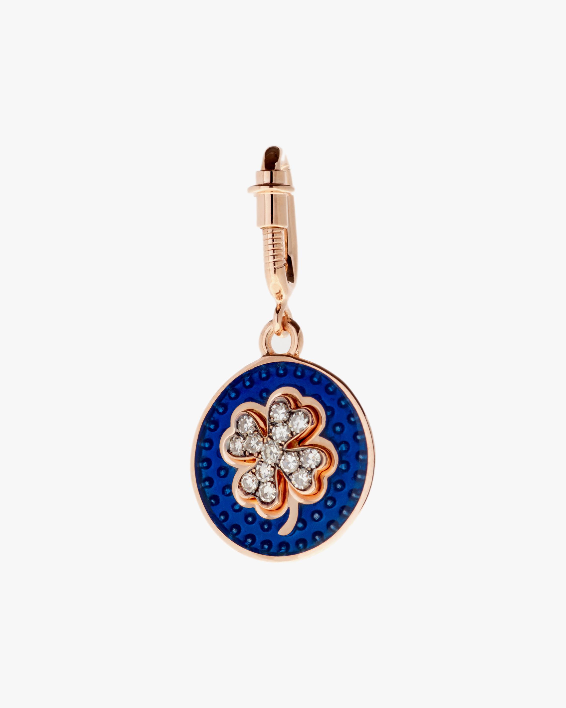 Selim Mouzannar Diamond & Navy Blue Enamel Pendant 1