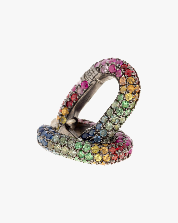 Selim Mouzannar Sapphire & Tsavorite Rainbow Earrings 0