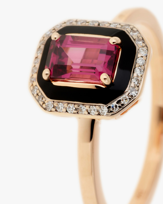 Selim Mouzannar Diamond & Rhodolite Square Ring 2