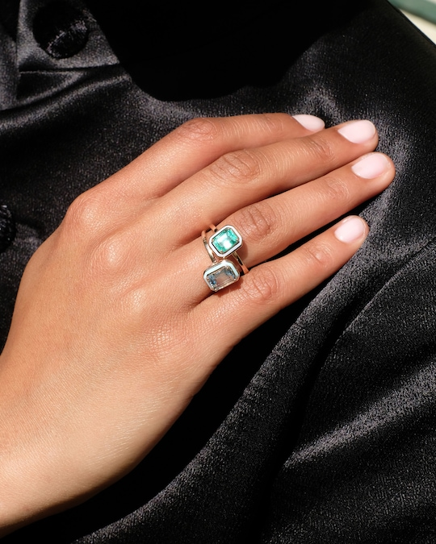Selim Mouzannar Emerald Square Ring 1