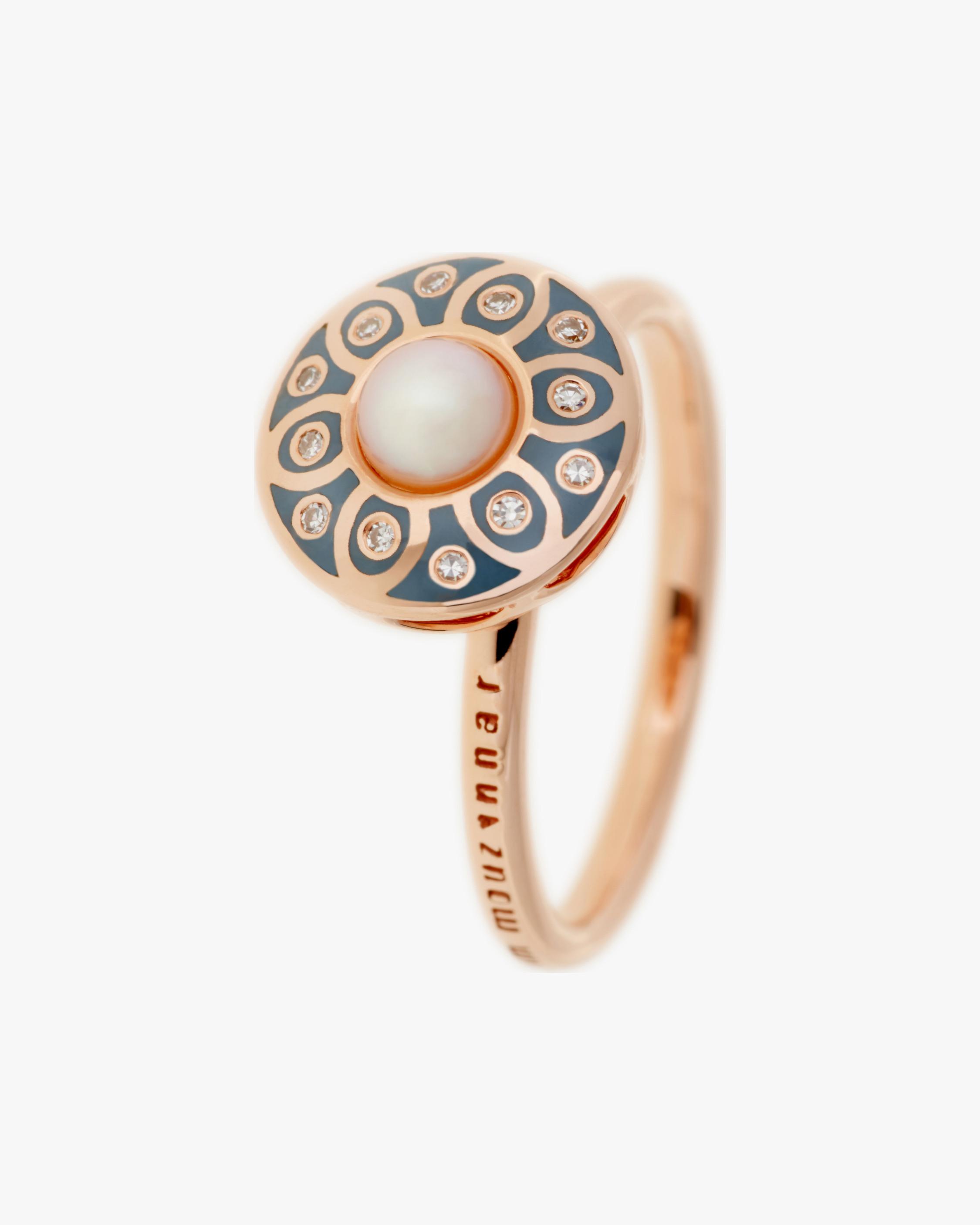 Selim Mouzannar Diamond & Pearl Ring 2